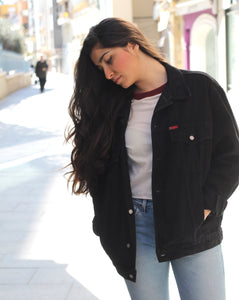 VINTAGE DENIM JACKET NEGRA - VARIAS TALLAS DISPONIBLES