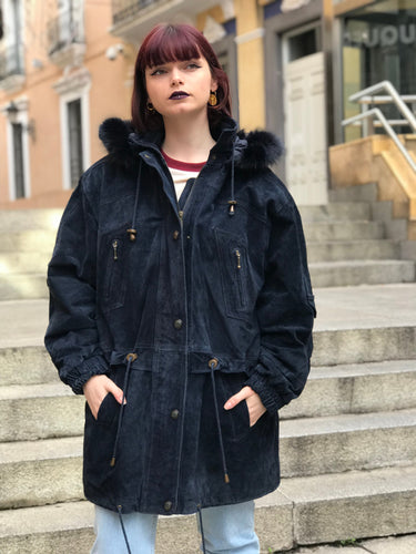 SUEDE LEATHER  PARKA COAT - VTG