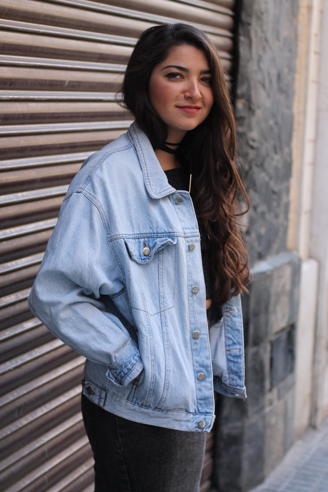 VINTAGE DENIM JACKET TONO MUY MUY CLARO - VARIAS TALLAS DISPONIBLES