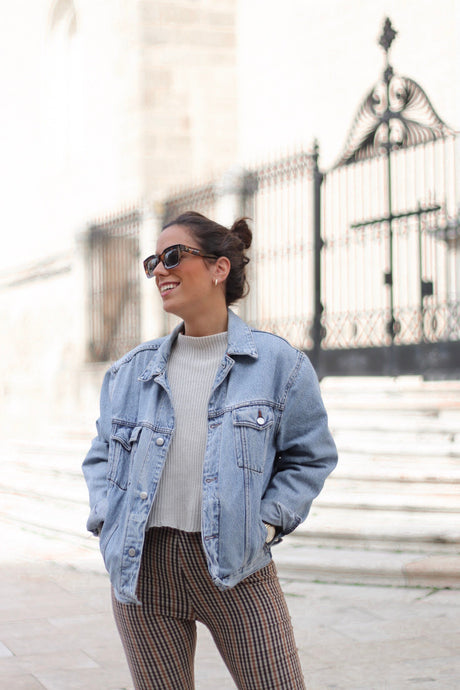 VINTAGE DENIM JACKET TONO MUY CLARO- VARIAS TALLAS DISPONIBLES