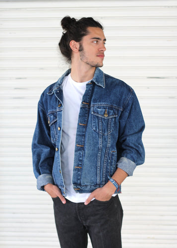 VINTAGE DENIM JACKET TONO MEDIO - VARIAS TALLAS DISPONIBLES