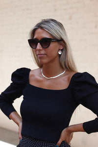 LADY BLACK SUNNIES acabado brillo