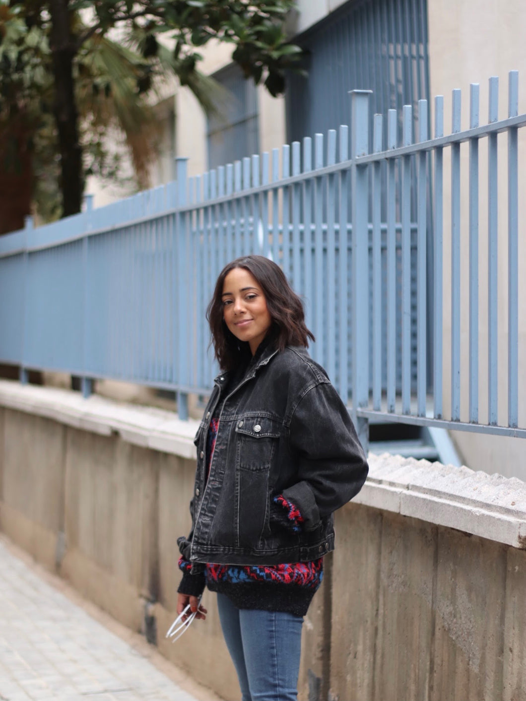 VINTAGE DENIM JACKET TONO NEGRO LAVADO - VARIAS TALLAS DISPONIBLES