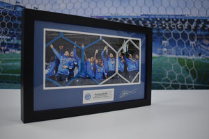 Official 2016/17 Goal Net Celebration Frame Signed by Conor Chaplin