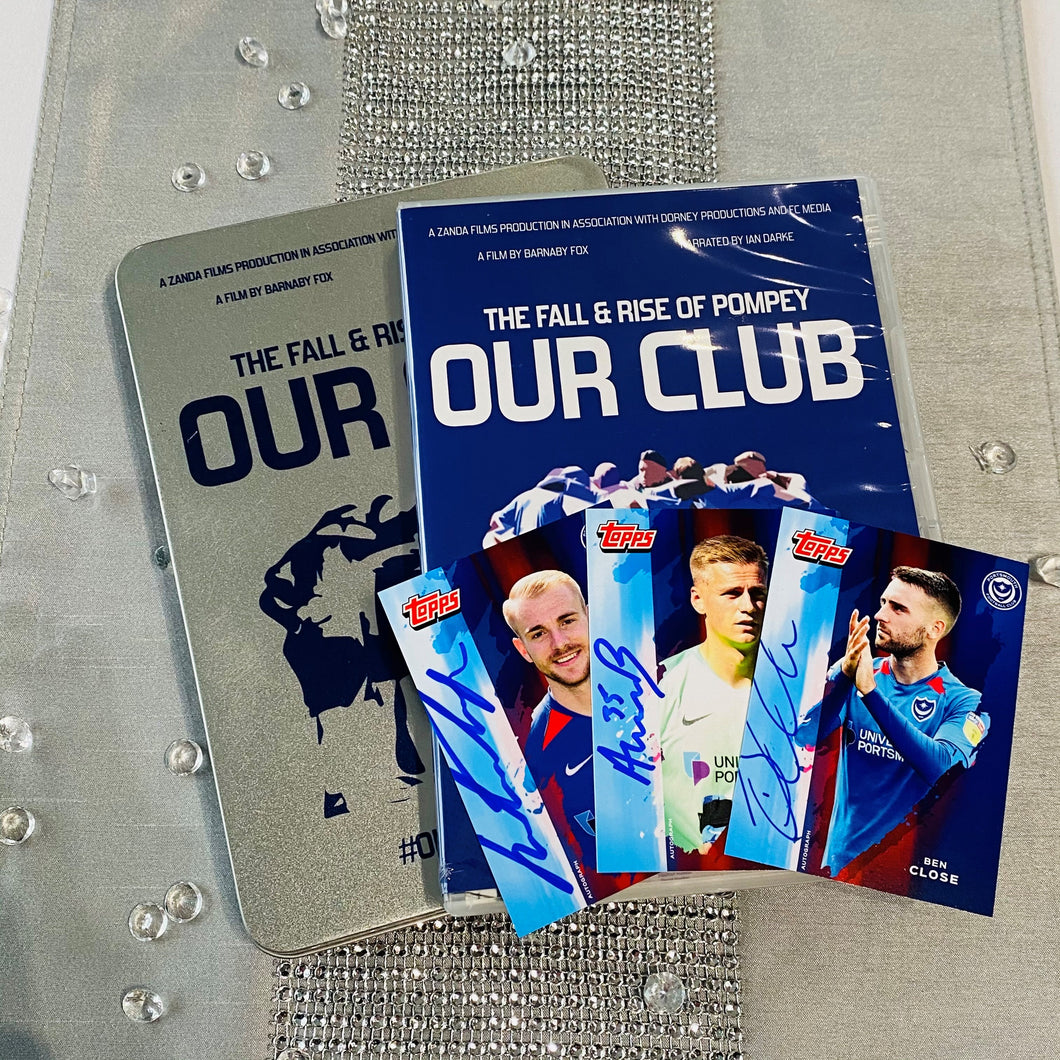 Signed Our Club DVD and Topps Card Bundle