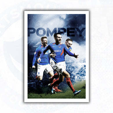 SIGNED Ben Close, Ronan Curtis & Andy Cannon Celebration Print