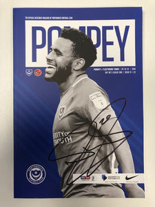 Signed Portsmouth FC Match Day Programme Versus Fleetwood Town FC