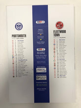 Load image into Gallery viewer, Signed Portsmouth FC Match Day Programme Versus Fleetwood Town FC