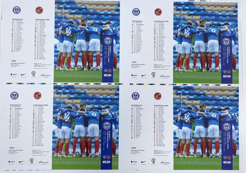 A2 Pompey v Fleetwood Signed Matchday Programme Cover