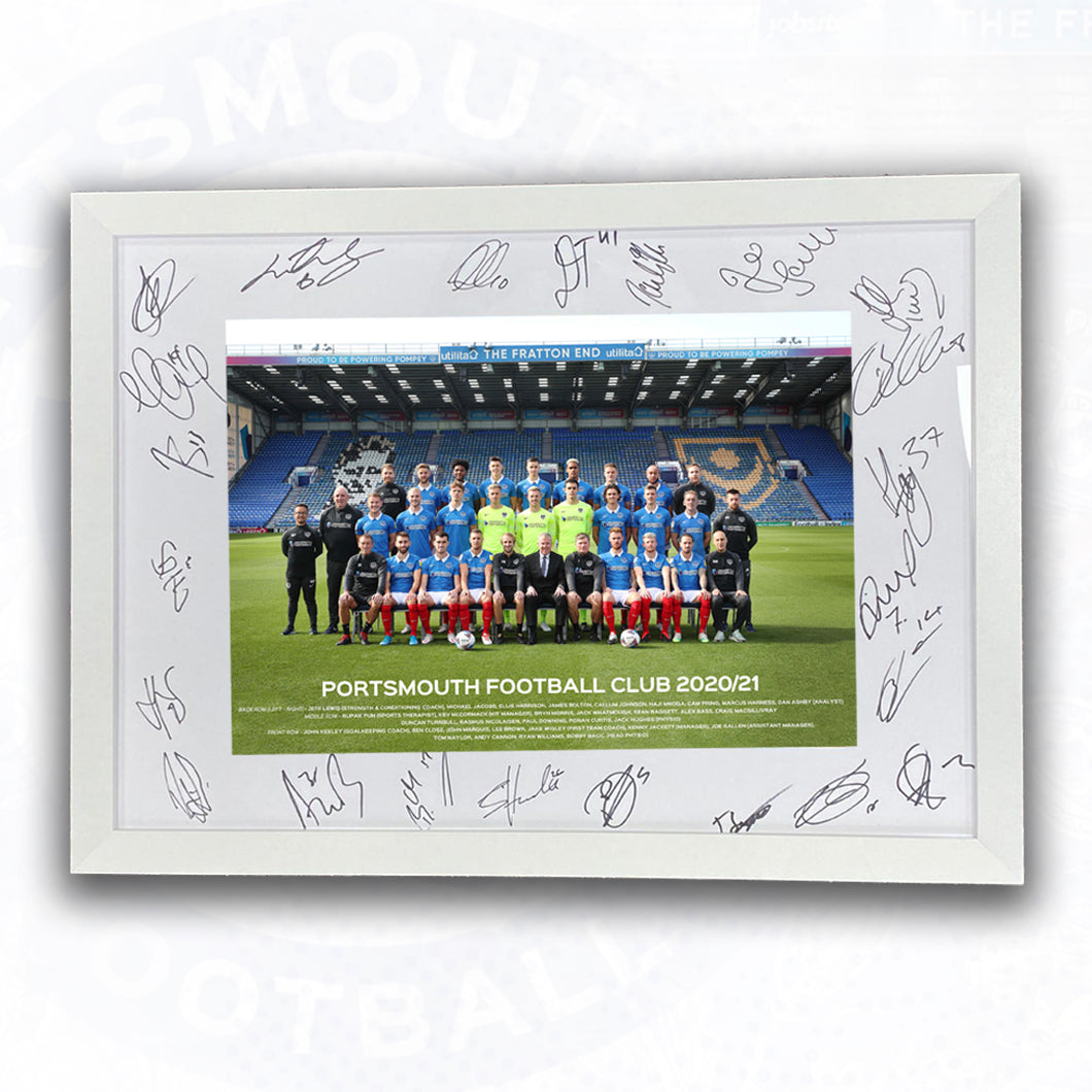 Official 2020/21 Signed and Framed Team Photo