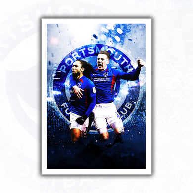 SIGNED Marcus Harness & Ronan Curtis Celebration Print