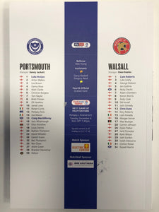 Signed Match Day Programme Vs Walsall FC