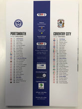 Load image into Gallery viewer, Signed by Christian  Burgess Portsmouth FC Match Day Programme Versus Coventry City FC
