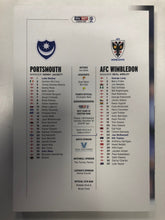 Load image into Gallery viewer, Signed Ben Close Portsmouth FC Match Day Programme Versus AFC Wimbledon FC