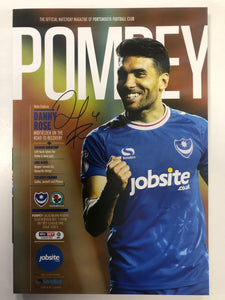 Signed Danny Rose Portsmouth FC Match Day Programme Versus Blackburn Rovers FC