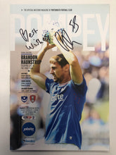 Load image into Gallery viewer, Signed Brandon Haunstrup Portsmouth FC Match Day Programme Versus Rotherham United FC