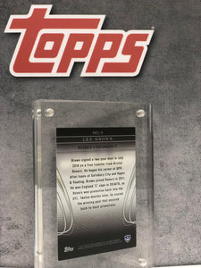 Lee Brown Framed and Signed Topps Card