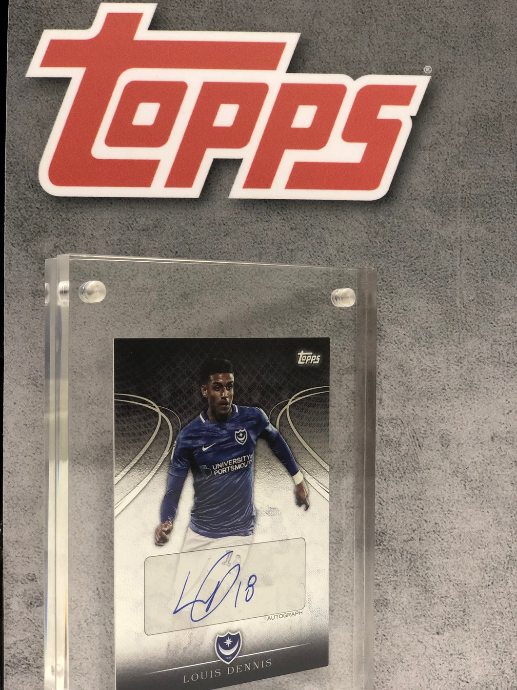 Louis Dennis Framed and Signed 2018/19 Topps Card