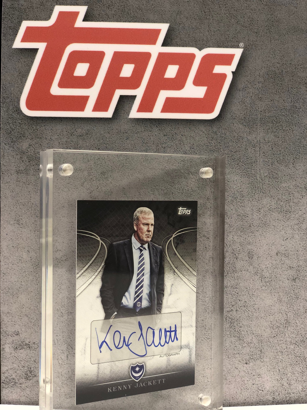 Kenny Jackett Framed and Signed Topps Card