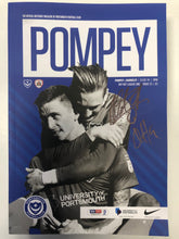 Load image into Gallery viewer, Signed Portsmouth FC Match Day Programme Versus Barnsley FC