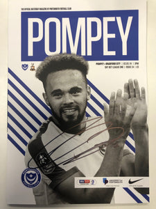 Anton Walkes Signed Match Day Programme Vs Bradford FC