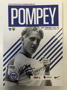 Signed by Ronan Curtis Portsmouth FC Match Day Programme Versus Oxford United FC