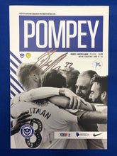 Load image into Gallery viewer, Signed Ben Thompson Portsmouth FC Match Day Programme Versus Burton Albion FC