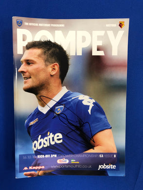 David Nugent Hand Signed Portsmouth FC Match Day Programme Versus Watford FC
