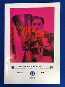 Signed Ronan Curtis Programme Vs Norwich City under 21's