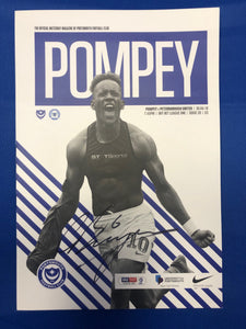 Signed Christian Burgess Match Day Programme Vs Peterborough United FC