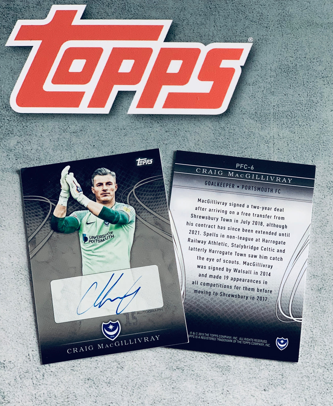 Craig MacGillivray 2018/19 Signed Topps Card