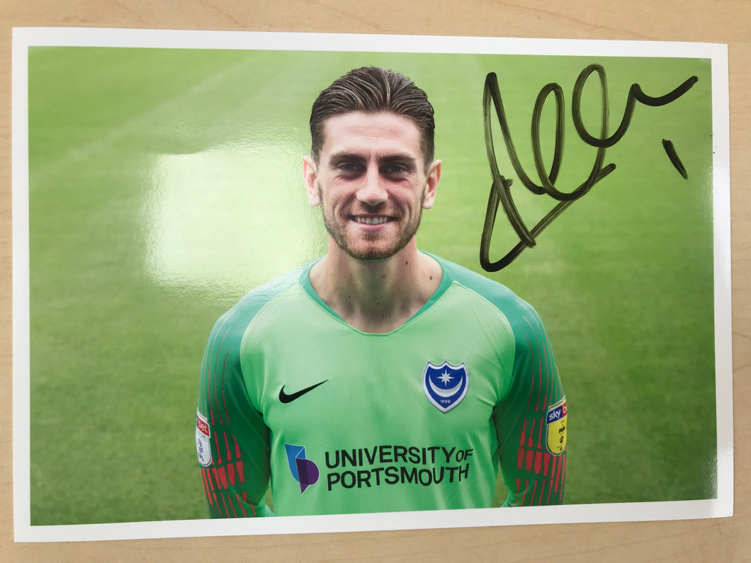 2018/19 Season Luke McGee Signed Photo