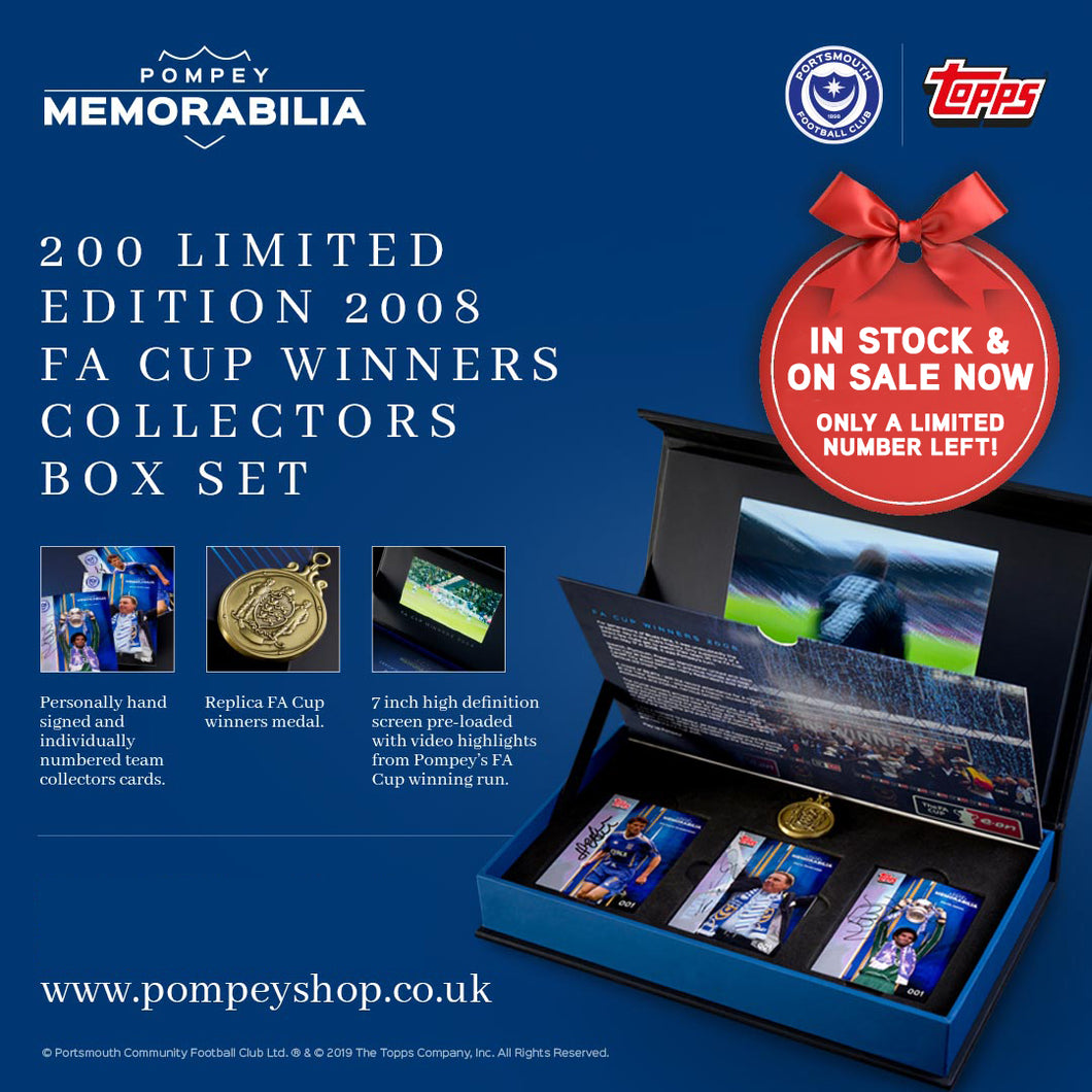 2008 FA CUP WINNERS LIMITED EDITION COLLECTORS BOX SET