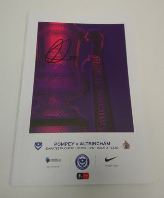FA CUP Round 2 Man of the Match Signed Portsmouth FC Match Day Programme Versus Alrincham 30/11/19