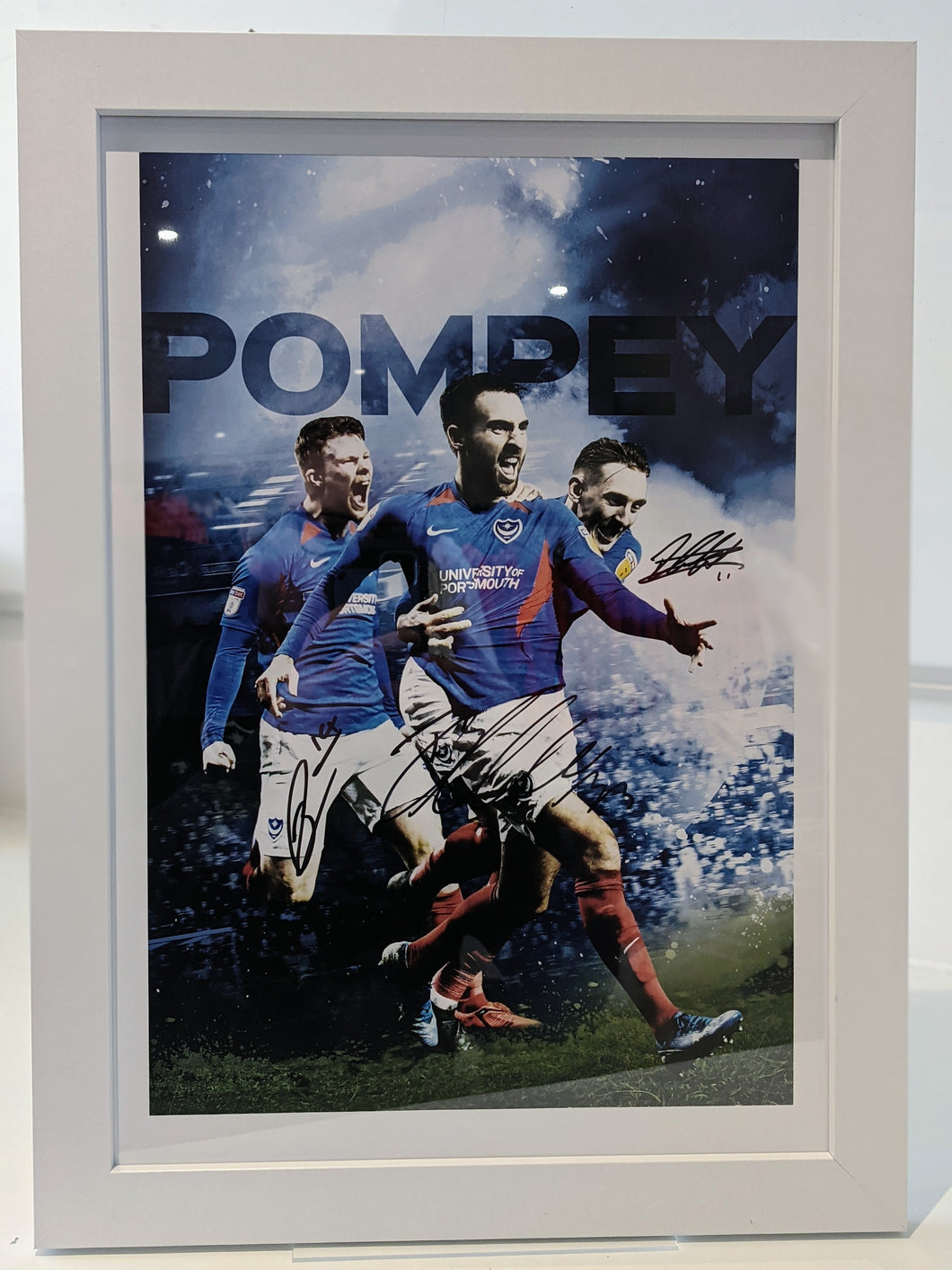 Limited Edition Signed & Framed Ben Close, Ronan Curtis & Andy Cannon Celebration Print