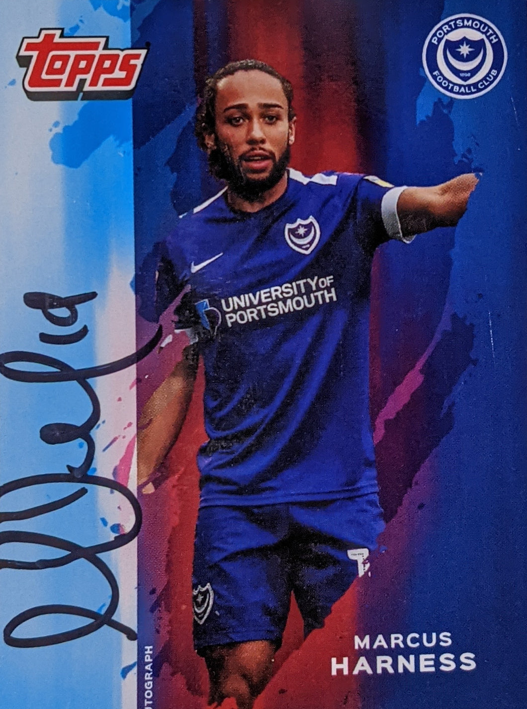 Marcus Harness 2019/20 Signed Topps Card