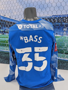 Alex Bass Signed, match-prepared Away Shirt v Bristol City in FA Cup