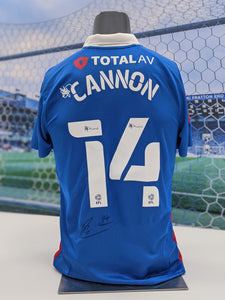 Andy Cannon Signed, Match-Prepared 2020/21 Home Shirt