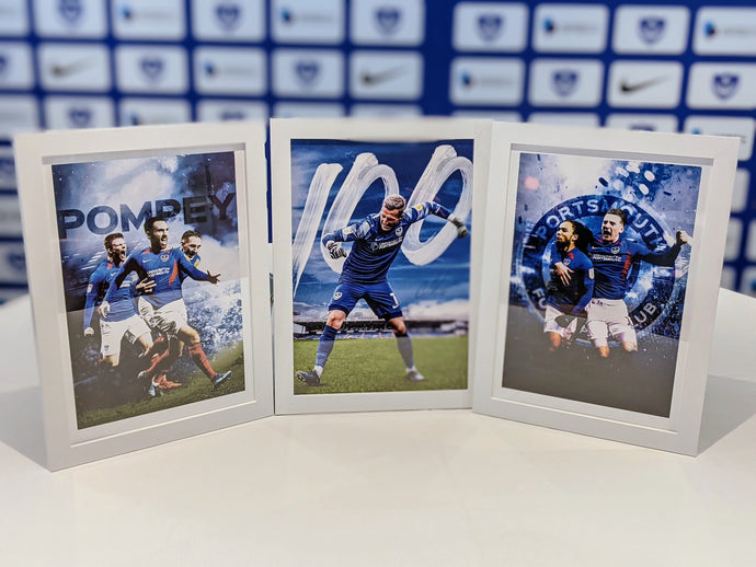 Trio of Framed Pompey Prints Bundle