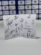 Load image into Gallery viewer, 2020/21 Season Signed Birthday Card