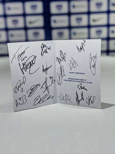 2020/21 Season Signed Birthday Card