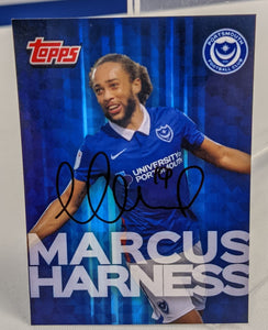 Marcus Harness 2020/21 Signed Topps Card
