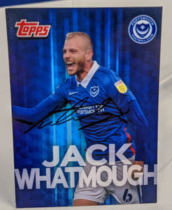 Jack Whatmough 2020/21 Hand Signed Topps Card