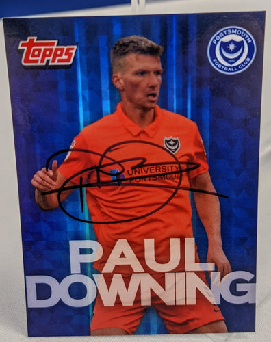 Paul Downing 2020/21 Signed Topps Card