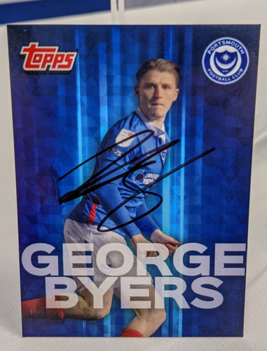 George Byers 2020/21 Hand Signed Topps Card