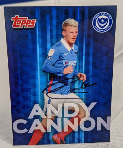 Andy Cannon 2020/21 Hand Signed Topps Card