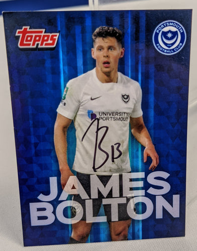 James Bolton 2020/21 Hand Signed Topps Card