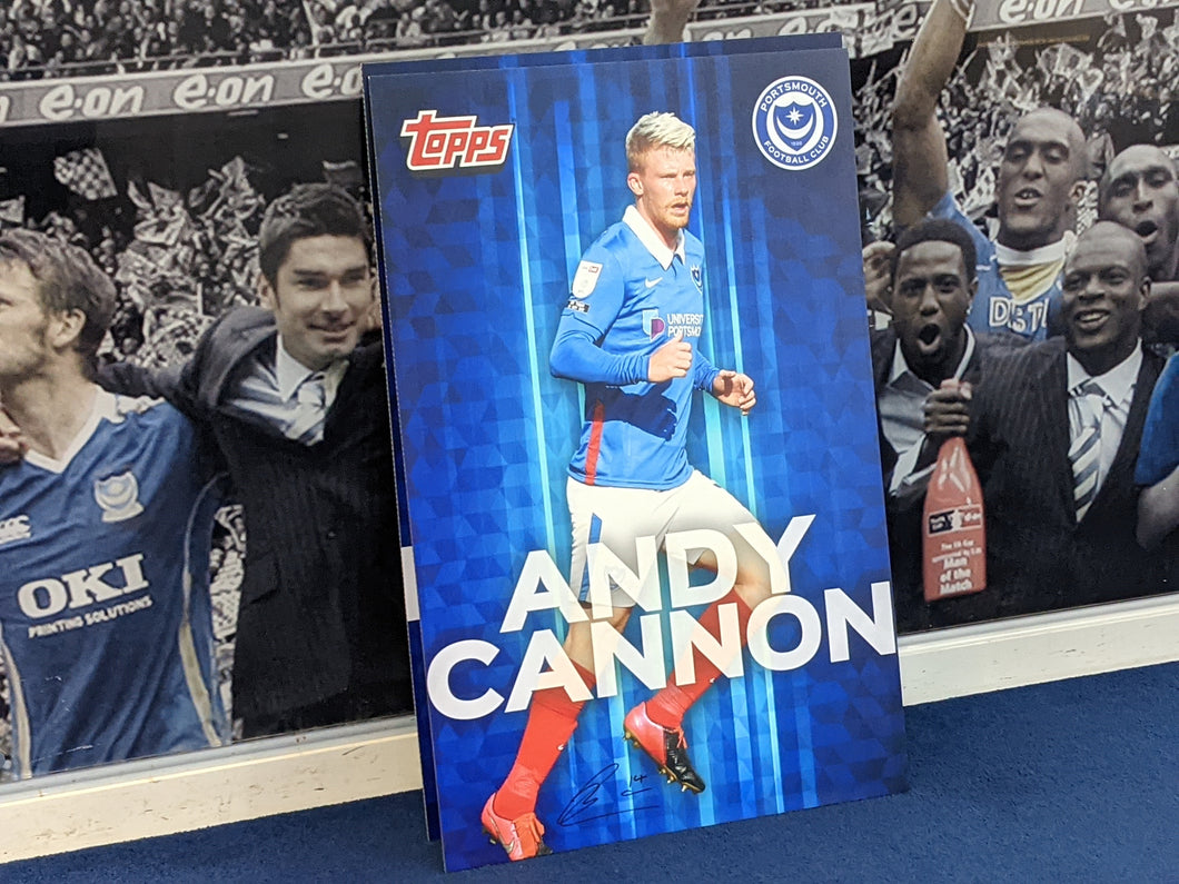Wembley 2021 Dressing Room Locker Hand Signed Topps Card - Andy Cannon