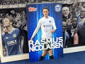 Wembley 2021 Dressing Room Locker Hand Signed Topps Card - Rasmus Nicolaisen