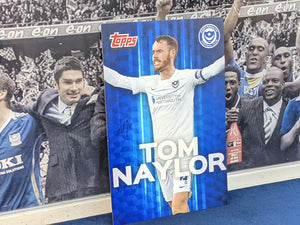 Wembley 2021 Dressing Room Locker Hand Signed Topps Card - Tom Naylor